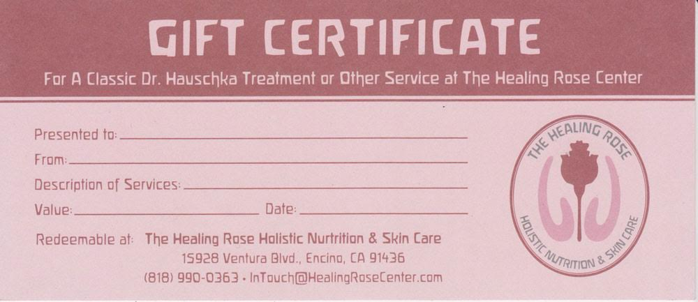 HR GIFT CERTIFICATE SMALL